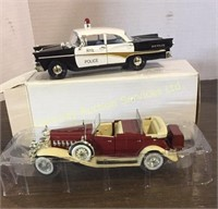 Die Cast 1958 Ford Fairlane Police Car and 1932...