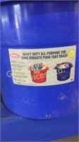 Heavy Duty All Purpose Tubs x 2 and Garbage Can...