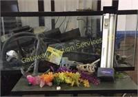 Fish Aquarium with Accessories, Heater, Anchor,