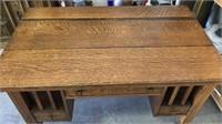 Antique Oak Mission Style Desk - Stickley Style