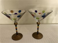 Variety of Colored Stemware
