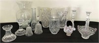 Assorted Sizes, Shapes of Vases & Bells