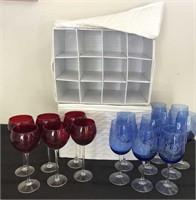 Cobalt Blue & Lenox Ruby Red Stemware