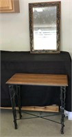 Pine Console Table and Mirror