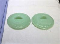Vintage Jane Ray Jadeite Sugar bowl lids 2
