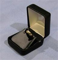 10 K Gold Onyx & Diamond Ring size 7