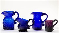 Rare blown- and pattern-molded wares