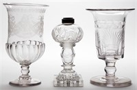 Selection of early cut and engraved wares