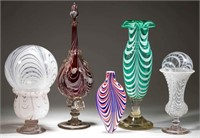 From a collection of marbrie-decorated free-blown wares