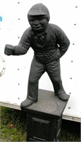 Black Lawn Jocky 4' Tall one piece