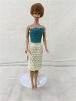 Vintage rubber eyelashed Barbie