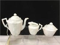 Porcelain vintage childrens tea set