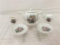 Japanese hand-painted vintage tea set