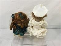 Vintage porcelain doll collection