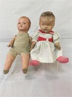 Antique composition baby dolls, needs TLC