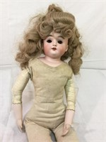 Antique open mouthed bisque doll