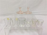 Vintage various glass childrens dishes