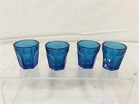 Cobalt blue juice pitcher & glasses
