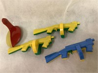 Vintage plastic rifles & more