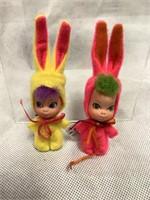 Mattel Liddle Kiddie Easter Bunny dolls, c1960's
