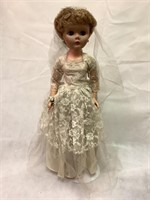Vintage bridal doll, 23 in tall