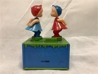 Vintage plastic Love Bank