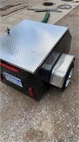 Enclosed motorcycle trailer like new.