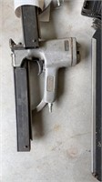 Lot of pneumatic nail guns and sander with face