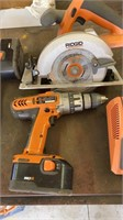 Ridgid cordless tool set. 1 side of charger