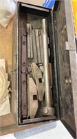 Large tool lot including drill bits, saw blades,