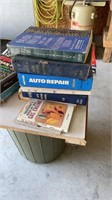 Lot with old license plates and manuals