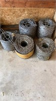 Lot of barbed wire