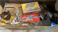 Metal box with miscellaneous automotive