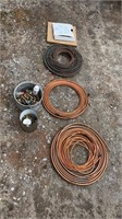 Large amount of scrap wiring and copper tubing
