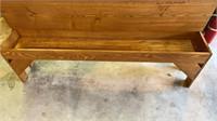 """Handmade oak flip up 64"""" long bench"""