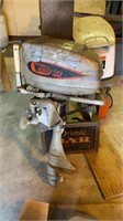 Lot of 2 outboard boat motors and tank, condition