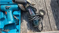 Metabo grinder and makita drill (no battery for