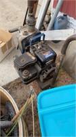 Lot of miscellaneous fishing, trash pump, pitcher