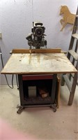 Craftsman radial arm saw on stand