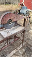 Old stone saw