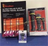 3 Pack Rubber Flashlight Set, Digital...