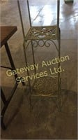 Table is 60 L x 20 W x 29 H, Metal Plant Stand