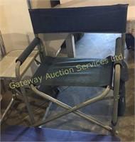 Camping Chairs with Attached Side Table,