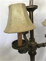 Large Floral Framed Print, Lamp & Planter
