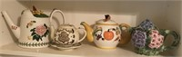 Three Teapots and 1 Tealight Candle Holder