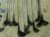 Ram Leather Golf Bag with Variety of Woods & Irons