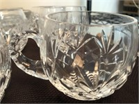 OFNAH Crystal-Clear Crystal Punch Glasses & Ladle