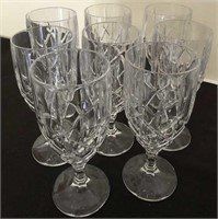 Three Styles of Lead Crystal Stemware and Pitcher