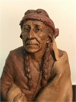 1987 Signed Tom Clark American Indian 1699