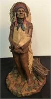 1987 Signed Tom Clark Chief Hollow Horn Bear